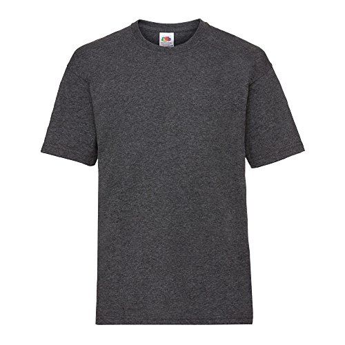 Fruit of the Loom Kinder T-Shirt Valueweight T Kids 61-033-0 Dark Grey Heather 104 (3-4) -
