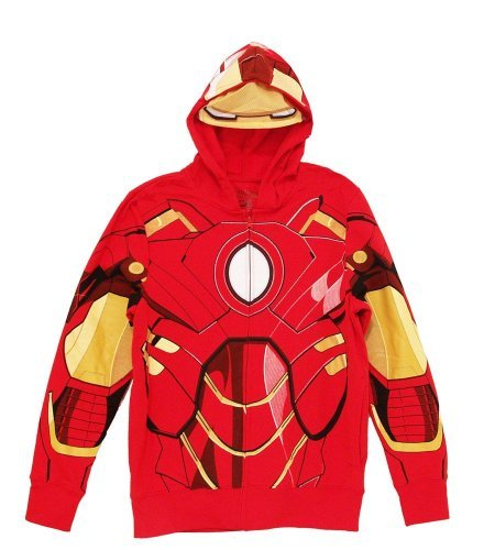 (TV Store Iron Man rot Kostüm Zip-Up Herren Hooded Sweathshirt Hoodie (Small))