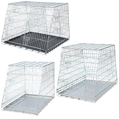 WOLTU® HT2082sb1-a 93*79*68 cm faltbar Auto Hundekäfig Käfig Transportkäfig Hundebox Hunde Transportbox mit 3 Türen