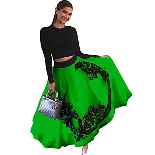 Jay Ambe Fashion Women\'S Georgette With Blouse Piece Lehenga Choli (Sonam Kapoor White_White_Free Size)