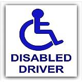 Etiqueta engomada del coche del conductor Discapacitado - silla de ruedas discapacidad - autoadhesivo de movilidad