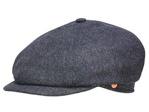 Seven Casual Tweed Flatcap Schirmmütze Newsboy Cap Wintermütze Mayser Wintercap Flatcap (55 cm - grau) (Tweed-newsboy)