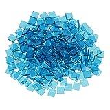 Sharplace Großhandelsposten Mosaik-Stücke aus Glas, Mosaik-Fliesen, Mosaiksteine zum Basteln, für Kunsthandwerk, als Dekoration, verschiedene Formen, Größen und Farben , navy, 10mm x 10mm square