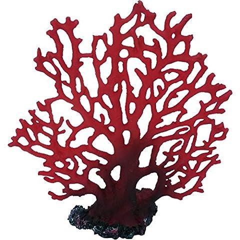 Marine Ventilateur Rouge Corail Artificielle Décoration pour Aquarium
