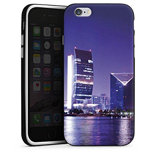 Apple iPhone X Silikon Hülle Case Schutzhülle Dubai Stadt Skyline Silikon Case schwarz / weiß