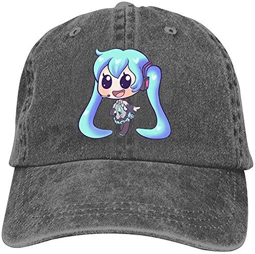 j65rwjtrhtr Mütze Hut Unisex Hatsune-Miku Anime Baseball Caps Vintage Jeans Denim Cotton Adjustable Hat