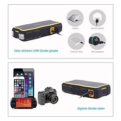 51m4%2B6qZedL. SS416  - roypow 18000mAh Carga Pesada 800A Punta corriente IP66impermeable coche de arranque para motores V6V8, Dual USB cargador rápido para Smart Phone, Tablet, Dual Alarma lámpara para soforthilfe