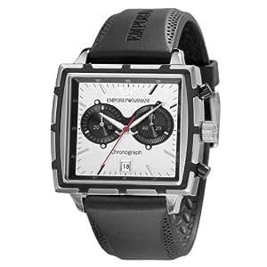 Emporio Armani AR0593 Black Rubber Strap Designer Gents Watch
