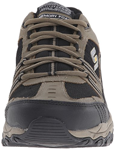 Skechers Sport ¨ Afterburn Grà ve Memory Foam Lace Sneaker Up - Ghiaia/nero