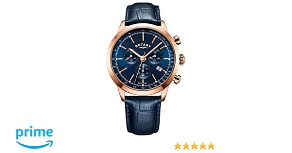 747268272ab5 Rotary Mens Analogue Classic Quartz Watch with Leather Strap GS05257 05   Amazon.co.uk  Watches