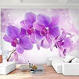 Fototapete Orchidee Lila Violett Vlies Wand Tapete Wohnzimmer Schlafzimmer Büro Flur Dekoration Wandbilder XXL Moderne Wanddeko - 100% MADE IN GERMANY - Runa Tapeten 9012010b