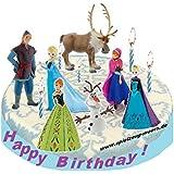 Frozen - Die Eiskönigin - Figuras decorativas para tarta (7 unidades), diseño de Frozen