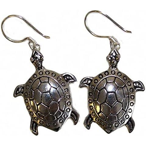 Turtles.-Orecchini in argento puro 925 in earrings. Thailand. Dimensioni: circa