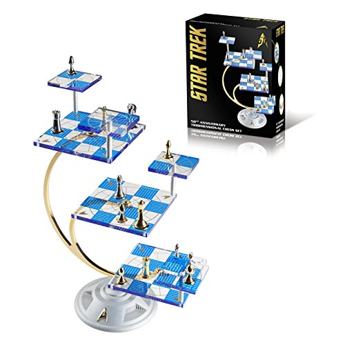 (Franklin Mint's Official 50th Anniversary STAR TREK Tridimensional Chess Set by WE Games)