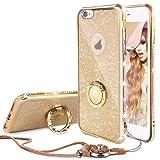 iPhone 6 Plus/6S Plus Hülle Glitzer Mädchen Gold,360 Grad