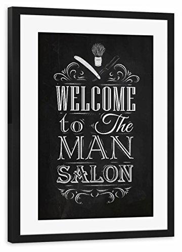 artboxONE Poster mit Rahmen Schwarz 60x40 cm Barber Shop II von Anna Kozlenko - gerahmtes Poster