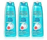 3x Garnier Fructis Antischuppen Shampoo Total reinigen Herren für normales Haar 250ml