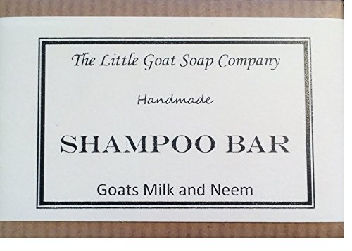1 x Shampoo Bar - Goats Milk and Neem Oil 100G. Eczema, Psoriasis, Seborrhoeic Dermatitis.