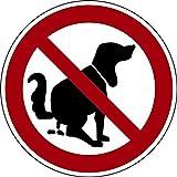 Schild Alu Hier kein Hundeklo 200mm