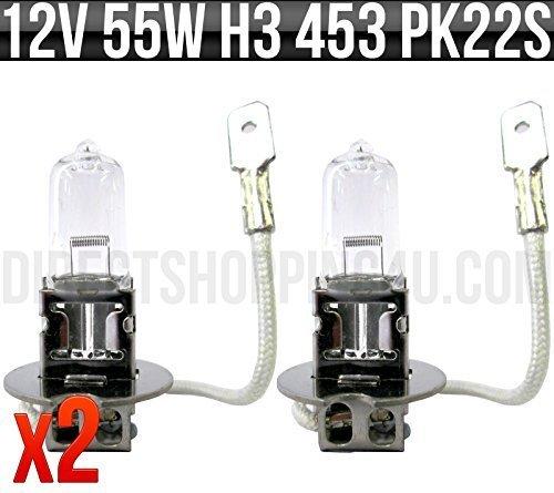 12v-55w-h3-pk22s-halogen-headlight-headlamp-spot-fog-bulb-453-pack-of-2