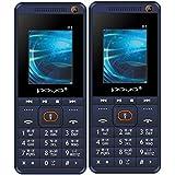 Poya P1 Bis Certified (1.8 Inch Display,Dual Sim,Selfie,1000 MAh Battery) Set Of 2 Blue
