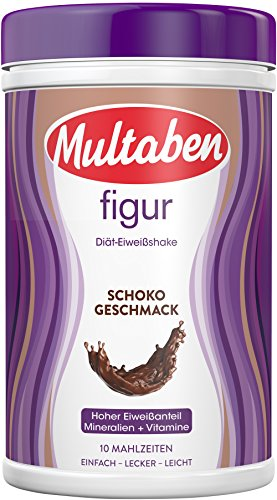 Multaben Diät Shake, proteinreicher Abnehm-Shake für eine Eiweiß-Diät, Schoko, 430 g (Diät-süße)