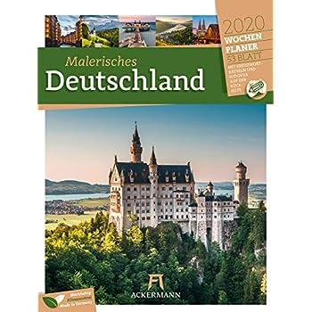 Malerisches Deutschland - Wochenplaner 2020, Wandkalender im Hochformat (25x33 cm) - Wochenkalender mit Rätseln und Sudoku auf der Rückseite