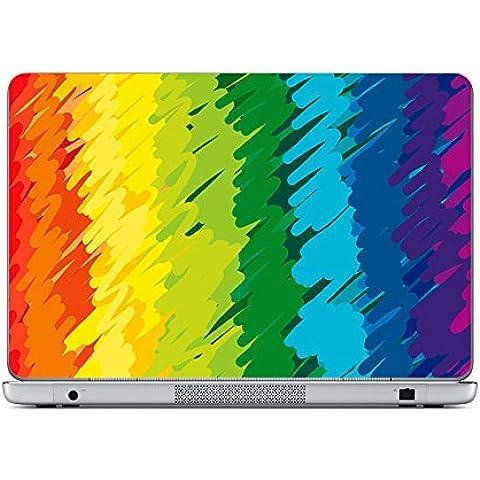 """Decusto-Crayon Rainbow-Adesivo per il vostro computer portatile da 11,6 """""""""""