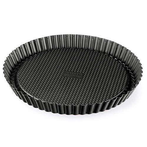 Kaiser Inspiration Tortenboden Ø 28 cm rund Wellenrand antihaftbeschichtet gleichmäßige Bräunung ausgestellter Griffrand schwarz