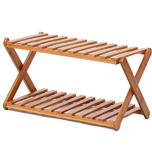 BSNOWF-Étagère à chaussures Étagère à chaussures de rangement en bois stratifié à 3 niveaux Couleur de bois simple moderne (taille : 50 * 28 * 22cm)