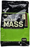 Optimum Nutrition Serious Mass Weight Gainer Whey Protein Powder with Vitamins, Creatine and Glutamine. Protein Shakes by ON - Chocolate, 16 Servings, 5.45 kg