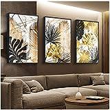 Arte de pared de lienzo Carteles de pintura de lienzo de hoja dorada e impresión moderna decoración cuadros...