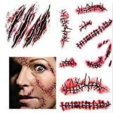 5PCS Halloween Narben Fake Wunden Tattoo Aufkleber Make Up Sticker