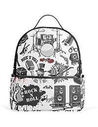 efc4937c36 COOSUN Simboli relativi al rock and roll ziani per la scuola per i ragazzi  bookbags ragazze