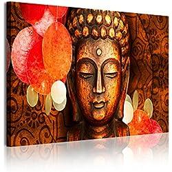 DekoArte Cuadro Moderno, Estilo Zen-Feng Shui Buda, Tela, Multicolor, 120x3x80 cm