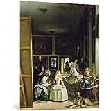 """Cuadro en lienzo: Diego Rodriguez de Silva y Velasquez """"Las Meninas or The Family of Philip IV, c.1656"""" - Impresión artística de alta calidad, lienzo en bastidor, 85x95 cm"""