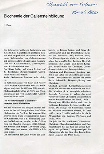 Carl Peter Henrik Dam original Autogramm/Autograph/signiert