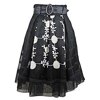 Skirt 50's Style In Embroidered Net (42)