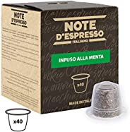 Note d'Espresso Mint Infusion Capsules exclusively Nespresso* Compatible 2g x 40 Capsules