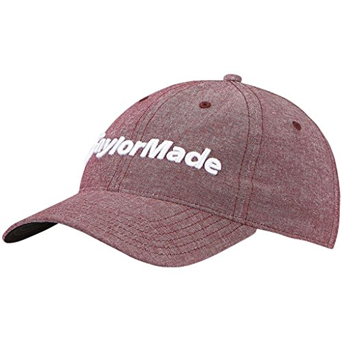 TaylorMade Golf 2018 Mens Tradition Lite Heather Hat Adjustable Golf Cap Cardinal