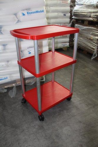 Transportwagen - Werkstattwagen - Rollwagen - bis 250 kg belastbar !! Version in Farbe Rot und Flach - Tief - Tief