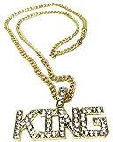 Unbekannt BABO Lude Macho Prolethen Hiphop Rapper Kette Necklace King Strass Bling Bling