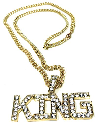 Unbekannt BABO Lude Macho Prolethen Hiphop Rapper Kette Necklace King Strass Bling Bling