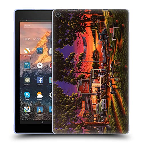 (Head Case Designs Offizielle Geno Peoples Art Kleinstadt Turnier Halloween Soft Gel Hülle für Amazon Fire HD 10 (2017))
