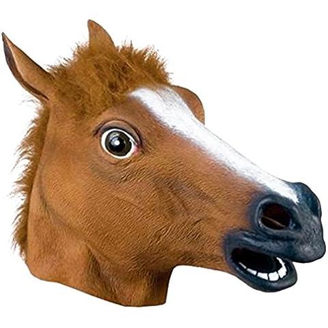 AIYUE Juguete de Imitación Máscara de Cabeza Caballo de Látex Careta Animal Disfraces para Adultos Props de