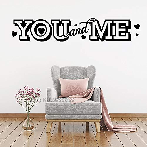 Neue Lager Sie Und Ich Vinyl Aufkleber Wand Zitat Kunst Wohnzimmer Aufkleber Removable Wandaufkleber Für Schlafzimmer Romantisches Dekor weiß 221X42 CM -