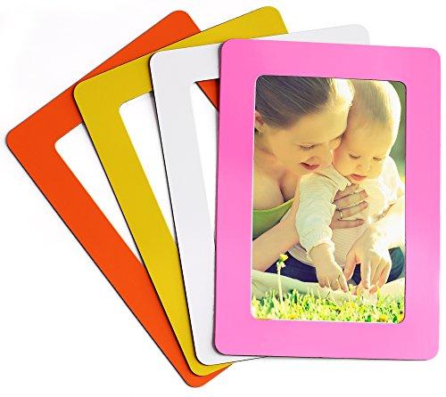 Magnetische Foto Bild Rahmen und Kühlschrank Magnete, Pocket Rahmen, hält 10,2x 15,2cm Fotos, 4Stück, Polyresin, Mediterranean 2, 4 x 6 Inches (Magnet-rahmen Für Kühlschrank)