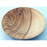 Holzschale Esche 28cm / Unikat Groß Maserung Natur Öko Obstschale Brotschale Design Designer