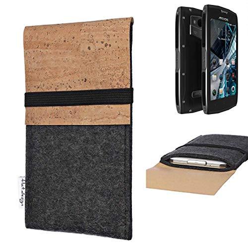 flat.design Handy Hülle SAGRES für Archos Sense 50X Made in Germany Handytasche Filz Tasche Schutz Case fair Kork