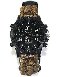 a79ee451d2df Reloj De Pulsera De Supervivencia Paracord Al Aire Libre con Linterna De  Infrarrojos De Silbato Linterna